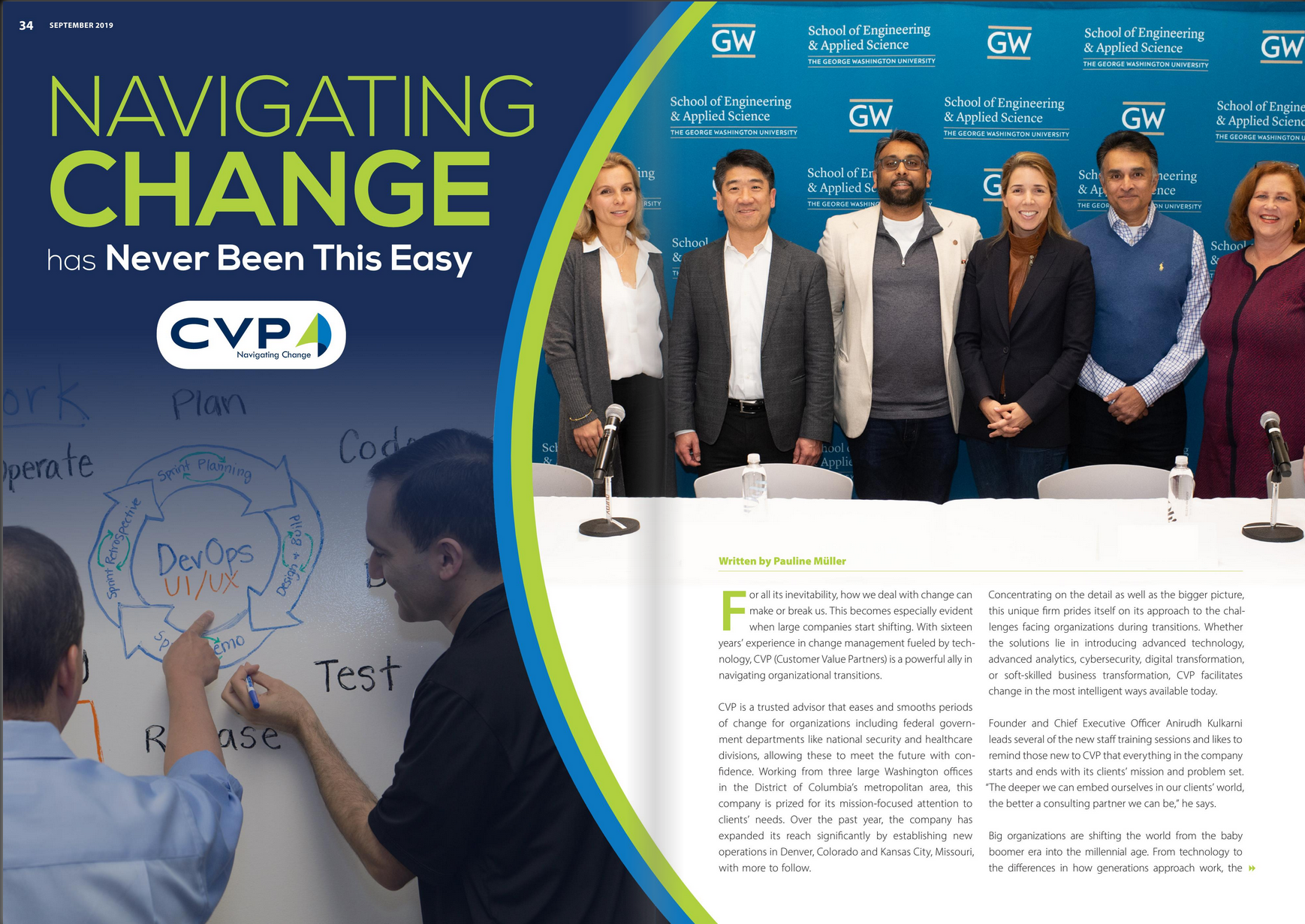 CVP is featured in September's Business In Focus Magazine.