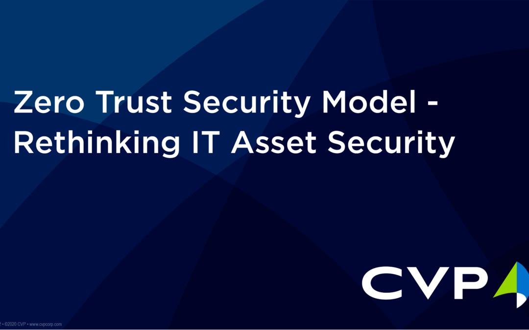 Zero Trust Security Model – Rethinking IT Asset Security